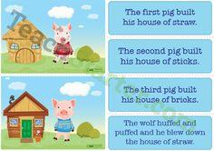 Three Little Pigs Sequencing Activity Cards Teaching Resource - Teach Starter