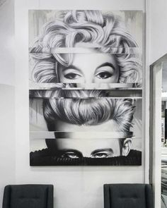 Marilyn Monroe & James Dean mixed portrait canvas   ✒Title: Marilyn & James 📐Designed: Painted by Set It Off 📍Located in Melbourne 🎨100% Spray Paint on quality Linen