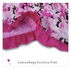 Camouflage Fuchsia Pink Minky Baby Blanket.....other sizes available, personalized http://www.lullabyemb.com/imported-products-2/camouflage-fuchsia-pink-minky-baby-blanketother-sizes-available-personalized