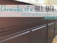 Hall Bath Chronicles- Cabinets Pt2 | A Shade Of Teal, Cabinet makeover.