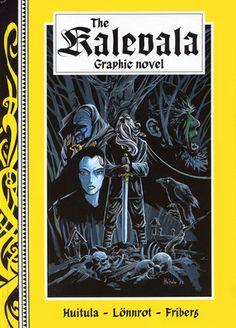 The Kalevala Graphic Novel Finland Jrr Tolkien, Reading Material, Finland, Mythology, Pop Art, Poems, Fantasy, Folklore, English