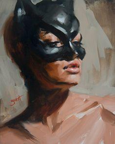 Oil Portrait, Painting Portraits, Art Drawings Sketches, Art Plastique, Figurative Art, Oeuvre D'art, Catwoman, Art Inspo, Painting & Drawing