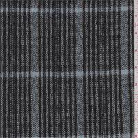 Black/Blue Plaid Flannelled Jacketing