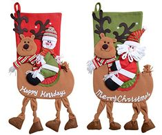 QBSM Classic Cute Christmas Stocking Decorations Gift Bag Xmas Character Plush Linen Hanging Tag Set of 2 Santa Snowman Ride Deer 22 inch ** You can get additional details at the image link. (This is an affiliate link) Target Christmas Stockings, Christmas Stocking Decorations, Kids Christmas Ornaments, Christmas Stocking Holders, Christmas Tag, Gift Wrapping Bows, Tropical Christmas, Candy Bags, Gifts For Kids