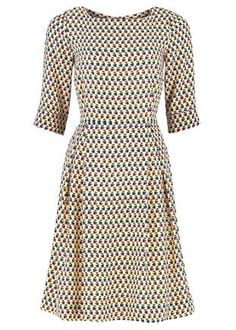 Silk Orla Kiely Owl Print Dress