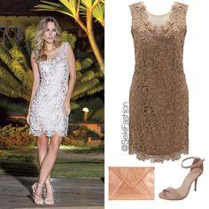 """""""Elegância e sofisticação em um só vestido!!! #vestidodefesta #partydress #vestidoderenda #ootn Referência: 980350"""""""