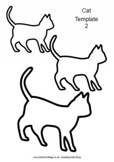 Cat template 2 - Cat printables from activityvillage.co.uk