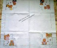 Image result for mantas para bebe bordadas em ponto cruz