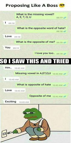 Proposing Like A Boss. Laugh your self out with various memes that we collected around the internet. Funny Shit, Funny Pins, The Funny, Funny Stuff, I Love You Funny, Random Stuff, Cute Texts, Funny Texts, Funny Jokes
