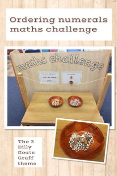 Maths Challenge. Order numerals. EYFS- The Three Billy Goats Gruff.