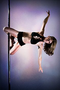 They say that pole dancing is a great work out ... I really want to try this work out haha