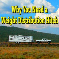 A weight distribution hitch is a special hitch designed to equalize the load on your tow vehicle and the trailer you are towing Rv Camping Checklist, Rv Camping Tips, Camping Ideas, Camping World, Family Camping, Weight Distribution Hitch, Used Rvs, Camping Organization, Organizing