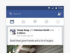 Facebook material design notifications
