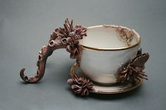Bottom Feeder Tea Cup and Saucer