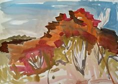 Meagan Jacobs Artist - Blood Wood - Gouache on paper