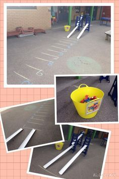 A really popular outdoor maths activity for FS1 that also promoted a lot of talk and PSED. Outdoor Maths Ideas - Twinkl Blog