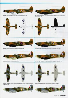 The colours of Spitfire K9871. This aircraft was written off in December of 1943, after having served operationally for four years (from February 1939 onwards). At the time it was written off, it was used for training. No fatalities.