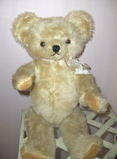Vintage 17in. White Mohair Knickerbocker Teddy Bear Fabulous