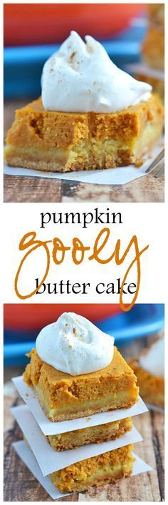Surprisingly easy to make and truly delicious, this Pumpkin Gooey Butter Cake is the ultimate in fall dessert decadence! Believe me, you'll want this cake on your holiday table!