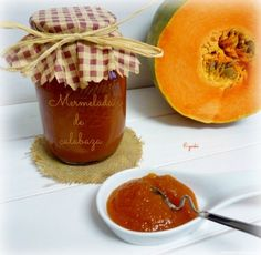 Mermelada de calabaza a la canela y jengibre (Thermomix) Pumpkin Jam, Salsa Dulce, Dominican Food, Pots, Jam And Jelly, Ice Cream Desserts, My Dessert, Candy Store, Sweet And Salty
