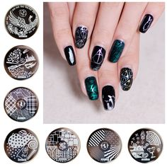 On sale !!1lot by 10pcs Nail Stamping Plate Image Transfer Templates Stamp Tool hehe28--  Ravenclaw harry potter series