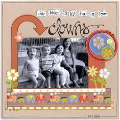 Clowns - Scrapbook.com - #scrapbooking #layouts