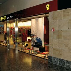 Only the original Pietra dorata Toscana is used in the store Ferrari. From our own quarries in Tuscany Italy.
