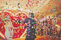 confetti celebration. Joanna Brown Photography via Bridal Musings - Lover.ly