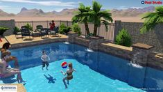 Dekeyrel Family Backyard Design Concept By Jeremy Hunt At Presidential P... Swimming  Pool