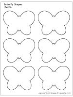 Butterfly Shapes Set 5