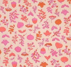 Vintage Acorn Pattern Fabric by luvmypets on Etsy