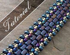 Beaded Bracelet Tutorial Super Duo Bead Pattern  Step by