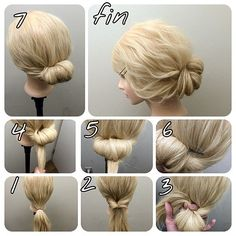 5 Beautiful Hairstyles Evenings Step by Step Discover 5 beautiful tutorials of chic evening hairstyles and trends that you can achieve yourself in less than ten minutes. Evening Hairstyles, Work Hairstyles, Pretty Hairstyles, Simple Hairstyles, Hair Is Full Of Secrets, Hair Arrange, Bridesmaid Hair, Hair Dos, Hair Designs