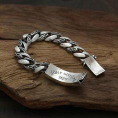 Men's Sterling Silver Ivy Curb Chain Bracelet