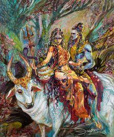 Goddess Parvati is the wife of Shiva and mother of Ganesha and Kartikeya. Parvati is a Hindu Goddess which represents kindness and unconditional love. Shiva Shakti, Shiva Parvati Images, Shiva Art, Hindu Art, Shiva Linga, Indian Gods, Indian Art, Ganesha, Lorde Shiva