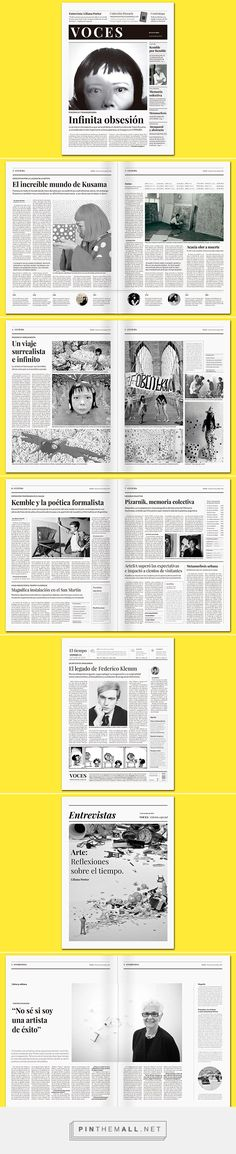 "Periódico ""Voces"" on Behance... - a grouped images picture - Pin Them All"