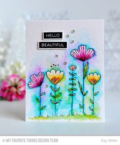 Handmade card from Kay Miller featuring Sketched Blooms stamp set