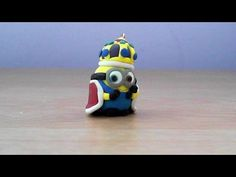 Let's make cute King Bob minion keychain with polymer clay! - YouTube