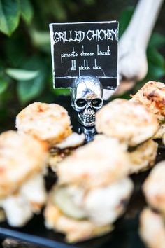 Halloween Party: Grilled Chicken Pimento Biscuits; Halloween Food ideas