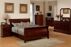 Solid Cherry Wood Bedroom Furniture
