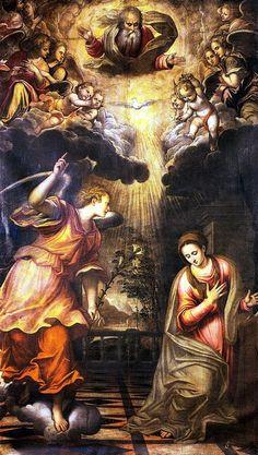 Simone Peterzano, The Annunciation, 16th century