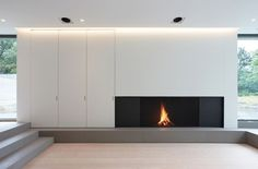 VM Residence by Vincent Van Duysen Minimalist Fireplace, Modern Fireplace, Fireplace Tv Wall, Fireplace Design, Modern Interior Design, Interior Architecture, Interior Decorating, New Homes, House Design