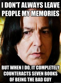 Professor Snape - Best Potions Teacher Ever! #HarryPotter #Snape