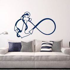 Hey, I found this really awesome Etsy listing at https://www.etsy.com/listing/226039610/anchor-infinity-wall-decal-nautical-wall