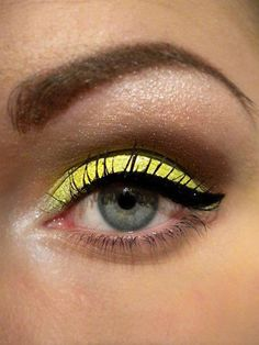 It's easy to go too far with neon make-up, but finding the right balance can be stunning!