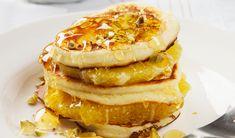 Orange ricotta pancakes Slimming World Cake, Ricotta Pancakes, Orange Recipes, Non Stick Pan, 200 Calories, Orange Slices, Tray Bakes, Lunch Recipes