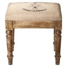 Vintage Charm Wooden Stool