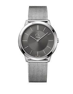 Calvin Klein Mens Swiss Large Minimal Stainless Steel Bracelet Watch M