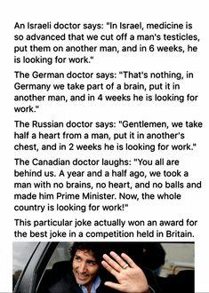 Brilliant! Hahahahaha Silly Jokes, Funny Jokes, Funny Shit, Funny Stuff, Hilarious, Funny Things, Truth Hurts, It Hurts, Trudeau Canada