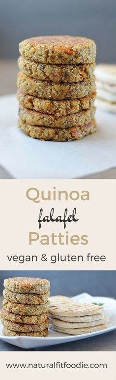 These Quinoa Falafel Patties are gluten free, vegan and packed with protein!